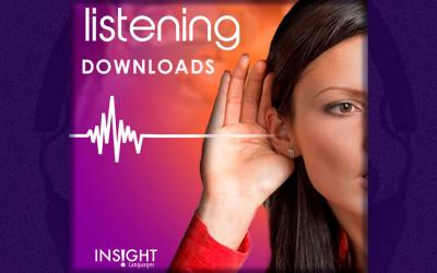 Material de áudio da Insight Languages